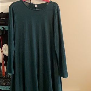 Old navy dark green swing dress